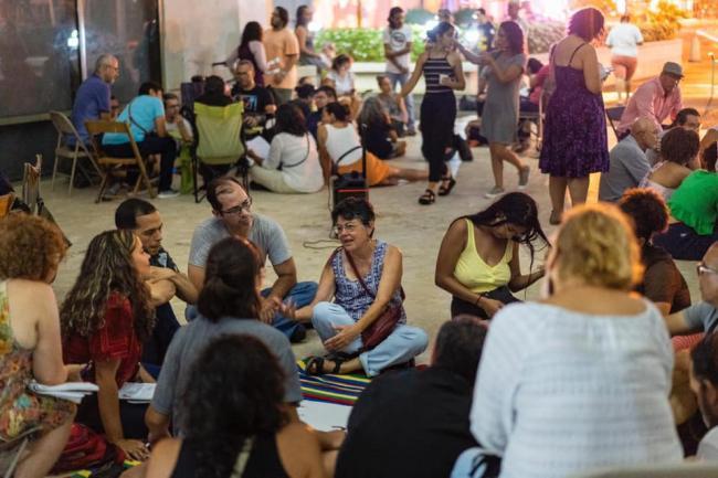 First assembly at Caguas Town Hall (Photo by coordinators of Asamblea de Pueblo Caguas)