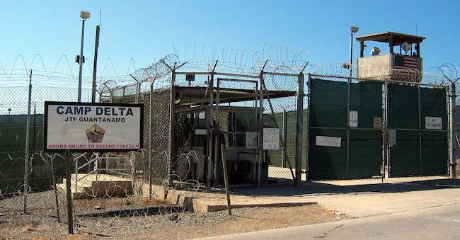 The entrance to a detention camp in Guantánamo Bay, Cuba. (Wikimedia Commons/Kathleen T. Rhem)