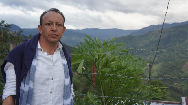 Carlos Alberto Gómez, an attorney and member of the local environmental coalition in Jardín (Photo by Adriana Cardona-Maguigad)