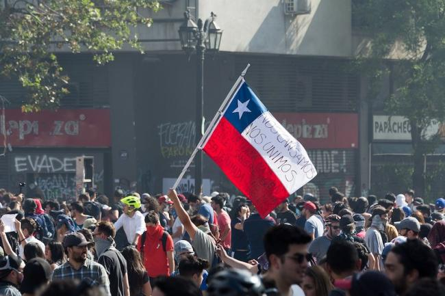 Protests in Santiago, Chile, 2019 (Carlos Figueroa/Wikimedia)