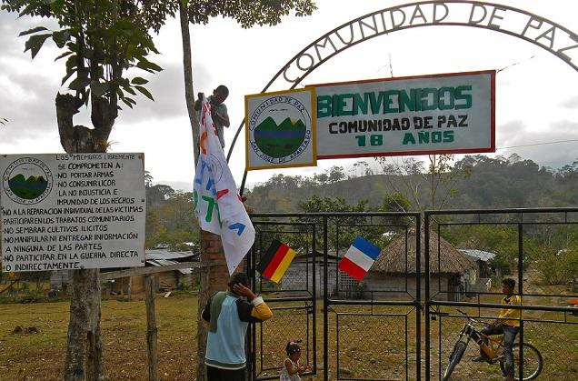 The Peace Community of San José de Apartadó celebrated its 18th Anniversary in March 2015. (Nikki Drake)