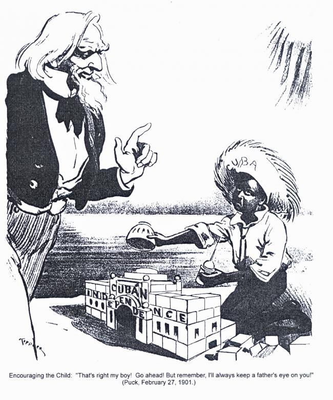 A 1901 political cartoon (Puck)