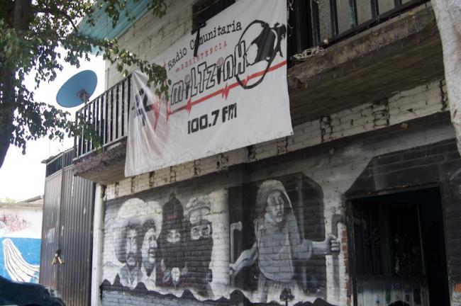 Outside of Radio Amiltzinko (Photo by Madeleine Wattenbarger)