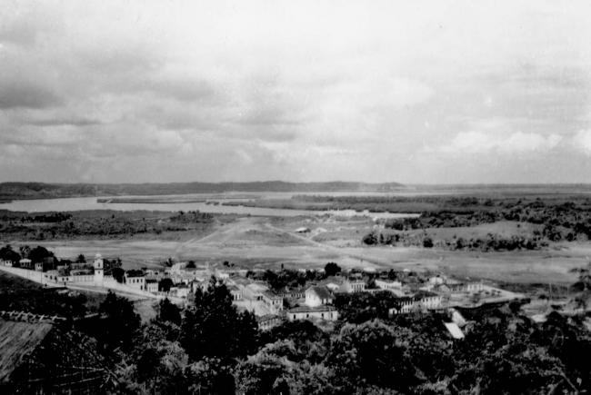A view of the airstrip that Norberto Odebrecht built during his early days in Ituberá, 1953 (IGBE Brasil)