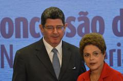 Brazil's Finance Minister Joaquim Levy and President Dilma Rousseff (Antonio Cruz/Agência Brasil/Creative Commons)