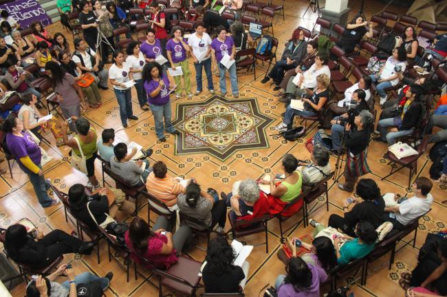 Guatemala City Encuentro, 2010. (Ina Riaskov / Producciones y Milagros Agrupación Feminista)