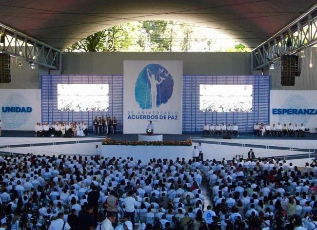 """On January 16th El Salvador commemorated the 25th anniversary of the signing of the 1992 Chapultepec Peace Treaty.""  (Photo: CISPES)"