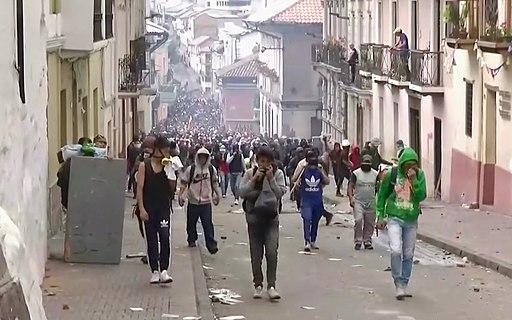 Manifestaciones en Ecuador el 9 de Octubre (Foto por Todos Noticias/Wikimedia)