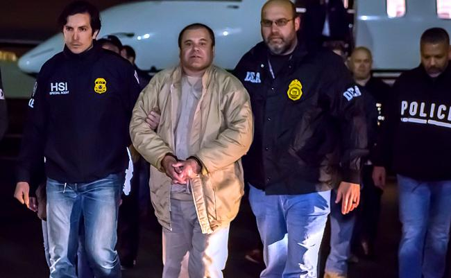 El Chapo in U.S. custody in January 2017 (Wikimedia Commons)
