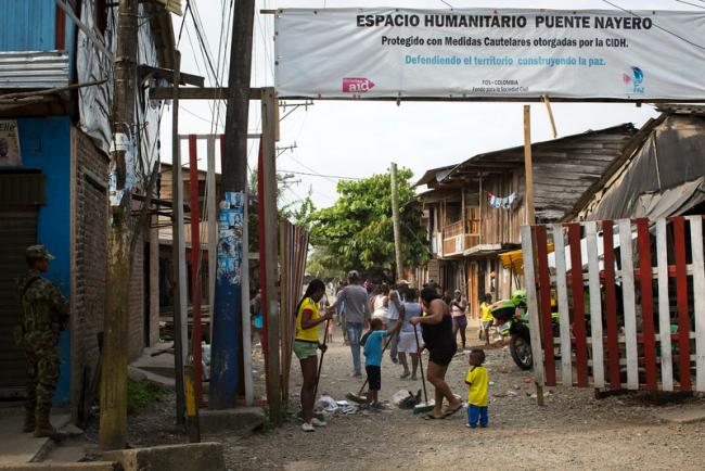 Entrance to the Puente Nayero Humanitarian Space (PBI Colombia)