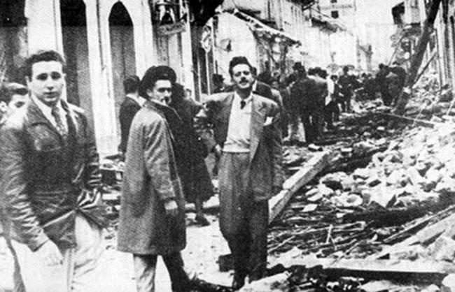 A young Fidel Castro (left) in April of 1948 in Bogotá during the Bogotazo (Ecopopular)