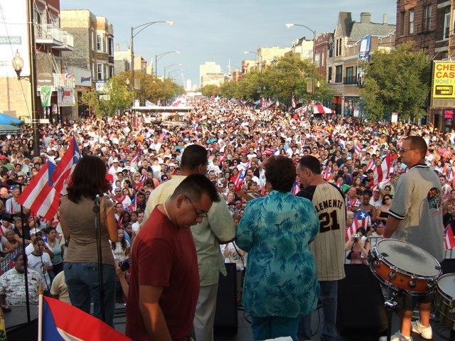 """Fiesta Boriqua"" in Humboldt Park, Chicago's predominantly Puerto Rican neighborhood (Creative Commons)"