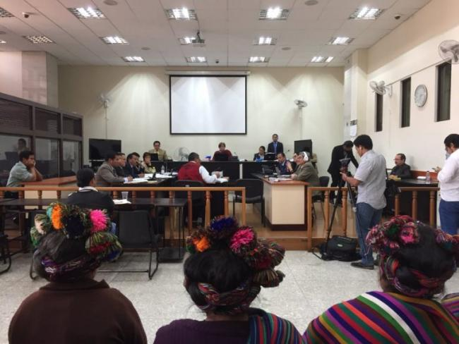 Ixil women in the courtroom at the genocide trial of Ríos Montt (International Justice Monitor)