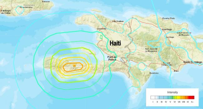 A 7.2-magnitude earthquake hit Nippes, Haiti on August 14, 2021. (USGS)