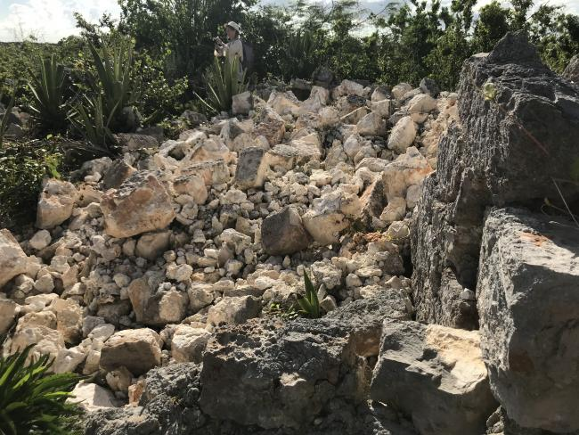 Ruins in Barbuda in the wake of Hurricane Irma (Photo courtesy of Rebecca Boger and Sophia Perdikaris).