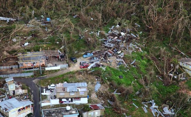Destruction in Puerto Rico following Hurricane Maria. (Photo via Wikimedia Commons)