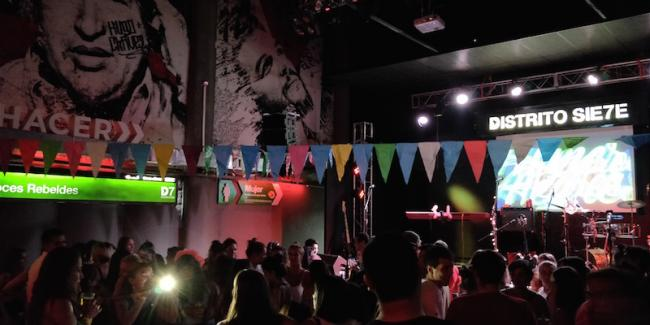 Distrito Sie7e, a nightclub in Rosario, Argentina, is at the heart of a rising leftist movement in northeastern Argentina. (Photo by Michelle B. Switzer)