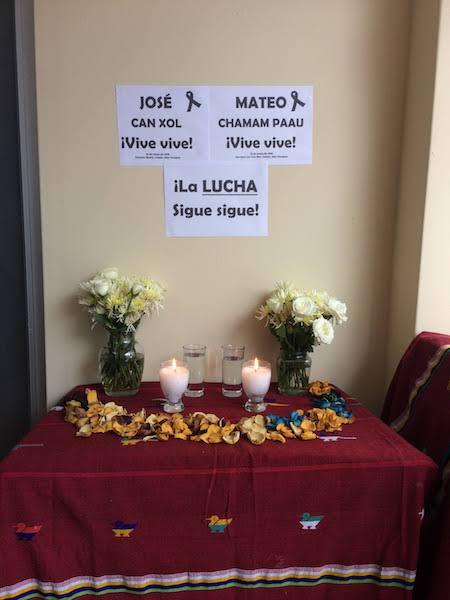 A memorial to two murdered CCDA members (Photo by Simon Granovsky-Larsen)