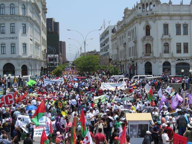 The March for the Climate held during the People's Summit (Orion Cruz)