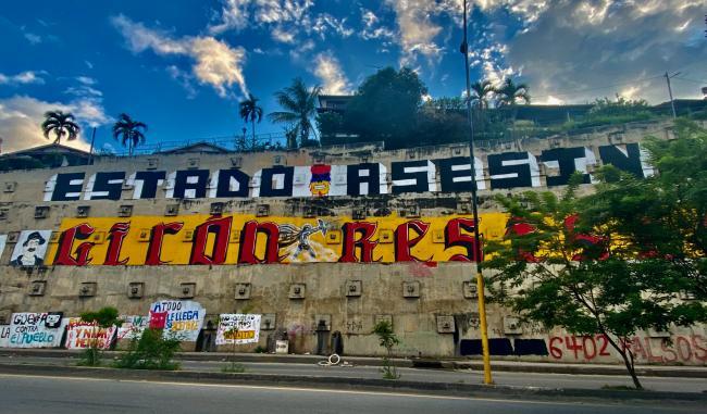 A collection of murals celebrating resistance and denouncing state violence in Girón, Santander. (Emma Banks)