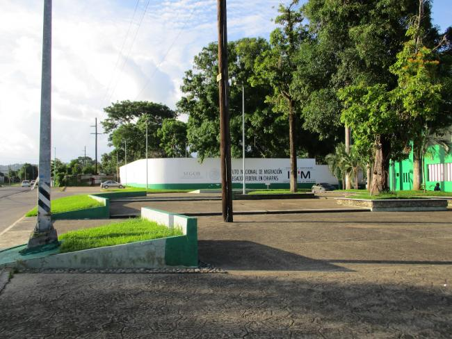 An INM detention center in Tapachula, Chiapas (Photo by Laura Weiss)