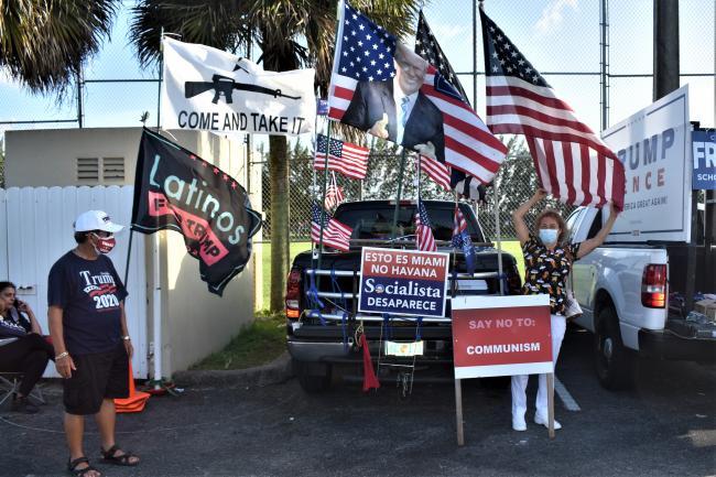Cubans for Trump in Hialeah. (Ariana Hernandez-Reguant)
