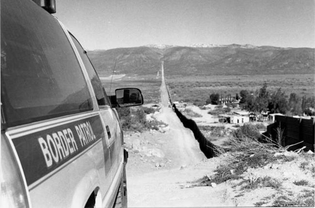 The U.S.-Mexico border fence in Jacumba, California (Photo by Mizue Aizeki)