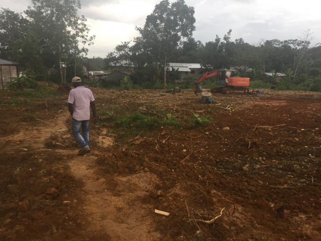 Land cleared for mining in the Chocó (Photo by Adriana Cardona-Maguigad)
