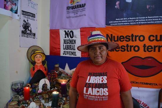 Lourdes Huanca Atencio, president of FENMUCARINAP (Photo by George Ygarza)