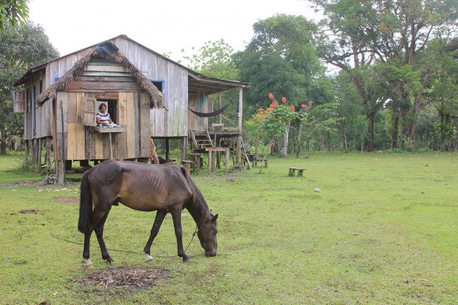 Marlene's house she once shared with her sister. (Photo by Kaelyn Forde, Ahuas, Honduras, July 2012).