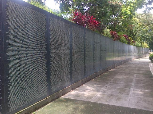 The Memory and Truth Monument (El Monumento a la memoria y la verdad) commemorating the victims of El Salvador's violence civil war (Wikimedia Commons)
