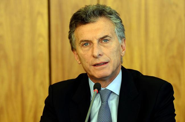 Then Argentine President-elect Mauricio Macri during a press conference at the Palácio do Planalto in Brazil. (Elza Fiuza/Agência Brasil)