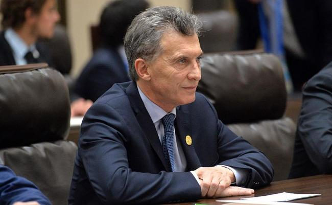 President of Argentina Mauricio Macri during a meeting with President of Russia Vladimir Putin. (Wikipedia Commons)