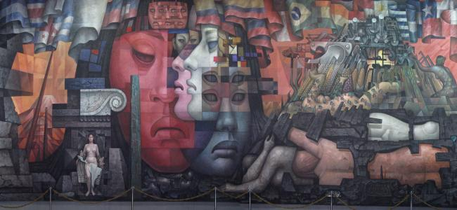"The mural ""Integration of Latin America"" by Mexican artist Jorge González Camarena at the University of Concepción in Chile. (Photo by Farisori / Creative Commons)"