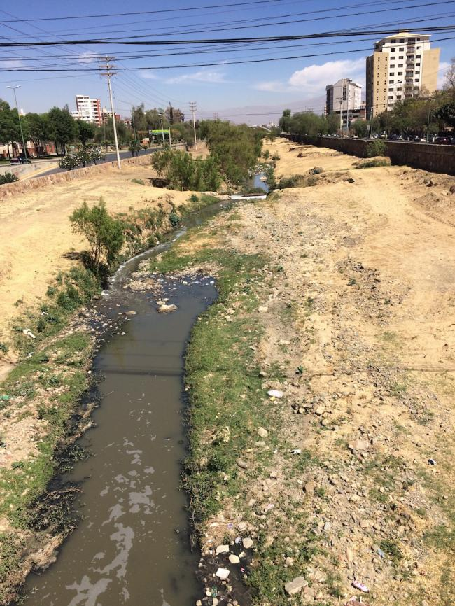 The Río Rocha runs through Cochabama (Photo by Nasya Razavi)