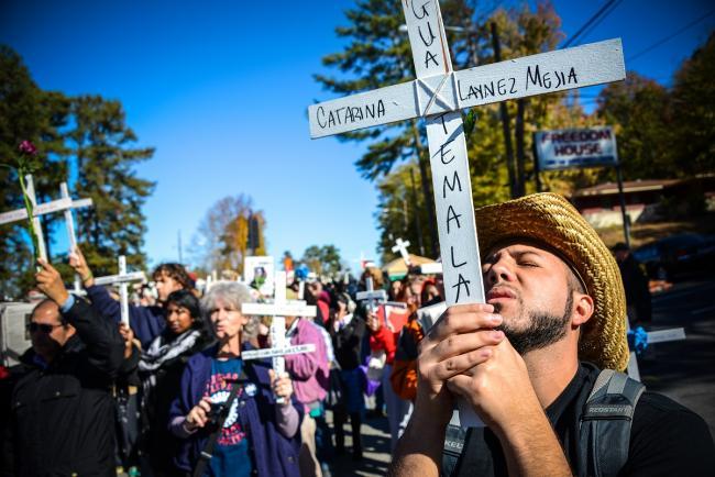 School of the Americas Watch 2012 vigil in Ft. Benning, Georgia. (Steve Pavey/Hope in Focus)