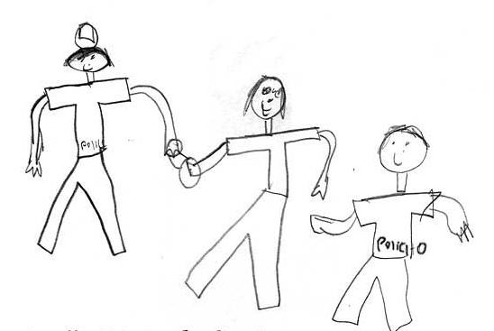 """""""Ser migrante es cuando vas cruzando y te detiene la policía. Te va a echar en la cárcel"""" -Lirizeth, 9 años"""