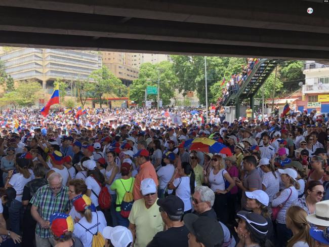 Operación Libertad, May 1, 2019. Caracas, Venezuela. (Wikipedia Commons/Voice of America)