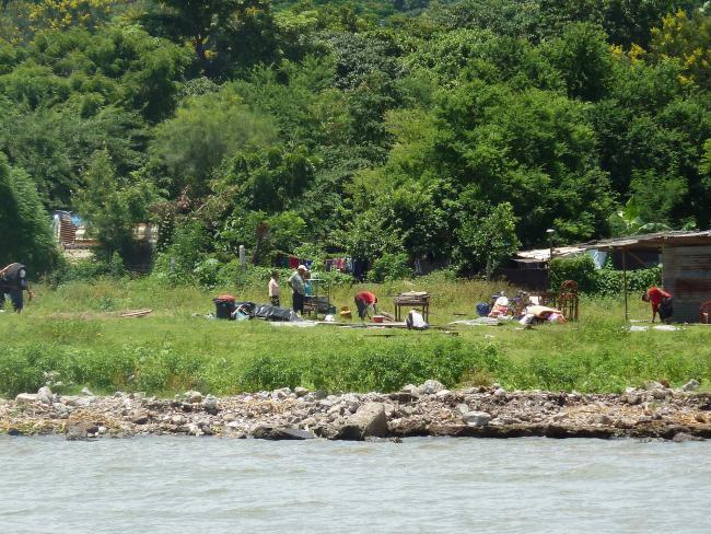 Squatters on the shore of Lake Xolotlán, near Managua's city center. (Photo by Douglas Haynes)
