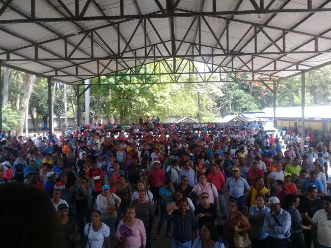 Meeting of the Platform in Defense of Health and Education in the department of Cortes (Photo courtesy of Bayron Rodríguez Pineda)
