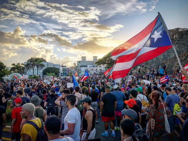 Puerto Rico Protests (Photo by José Fuentes)