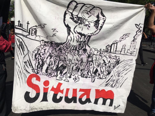 SITUAM banner on May 1 2019 (Photo by Akuavi Adonon)