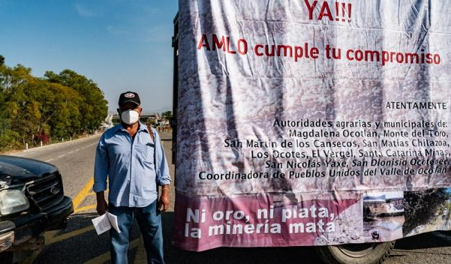 A protest against the mining company. (Santiago Navarro F.)