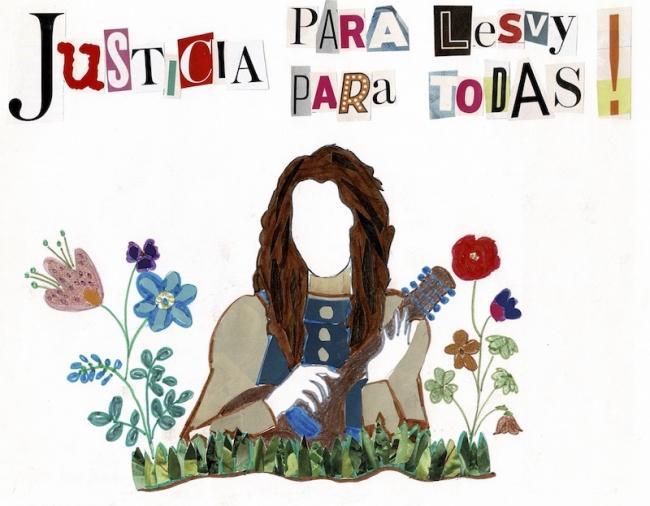 Borrador de Las Siempre Vivas para la elaboración de la manta por Lesvy Berlín Rivera Osorio. (Las Siempre Vivas)