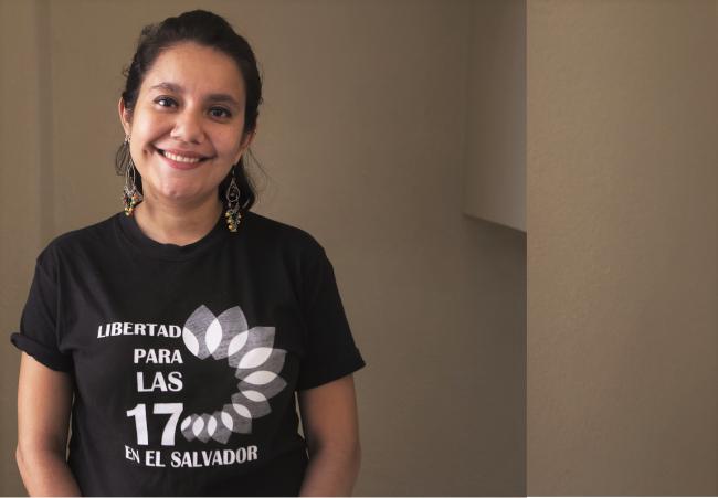 Sara Garcia, an activist with the  Citizen Group for the Decriminalization of Abortion (Agrupación Ciudadana por la Despenalización del Aborto) (Photo by Prometeo Rodríguez Lucero)