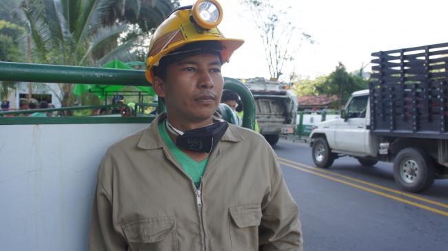 Saul Albán Hernández Moreno, a miner in Colombia (Photo by Adriana Cardona-Maguigad)