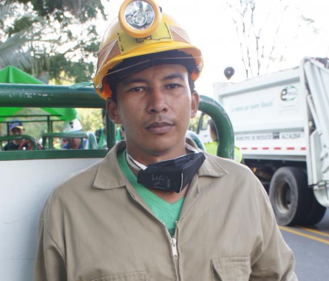Saul Hernandez - a miner from the Don Leo mine. (Adriana Cardona-Maguigad)