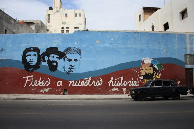 "A mural in Centro Habana reads ""Loyal to our history."" (Photo by James Rodríguez)"