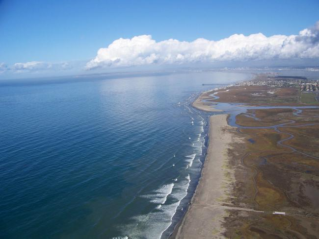The Tijuana River Estuary is one area of ecological diversity that has been threatened by the border control regime (Wikimedia Commons)