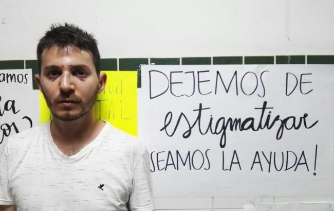 Marcos Rojas, the Amnesty International activist whose nose was broken